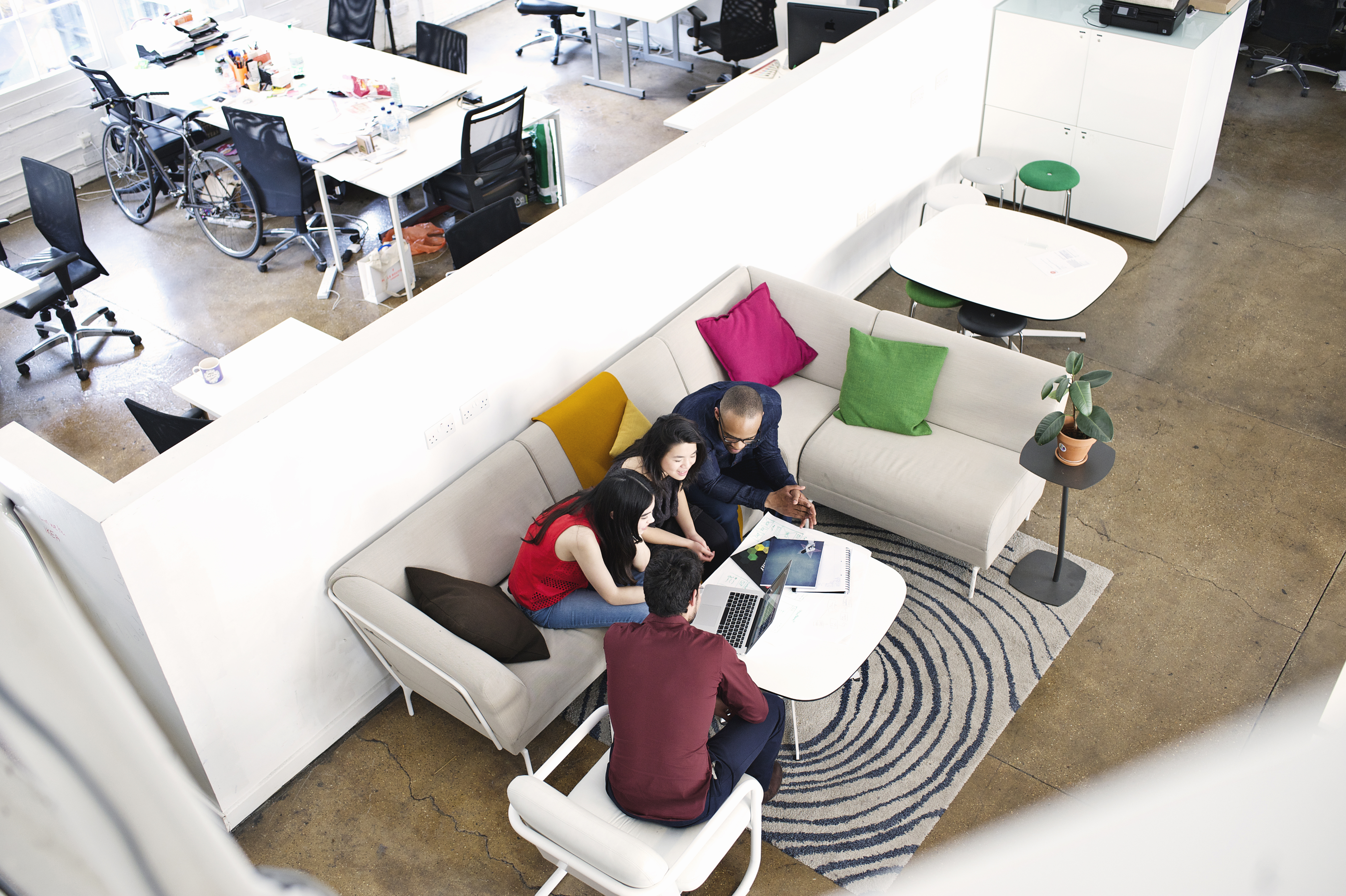 Office Space with Neighbourhood Design Concept